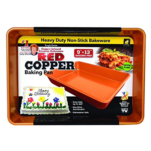 As Seen On Tv 5 Piece 10 Inch Square Pan Set Red Copper